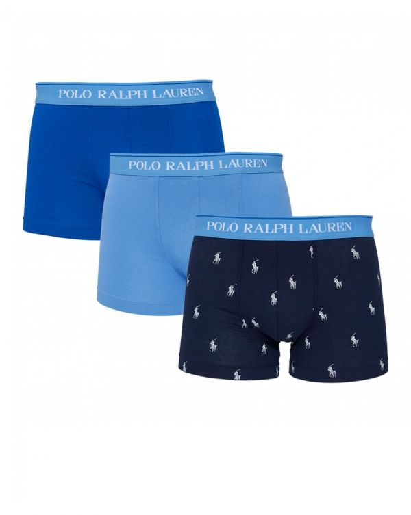 3 Pack Plain And Printed Boxer Shorts