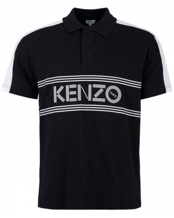 Kenzo Logo Striped Short Sleeved Polo