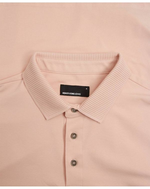 Ribbed Collar Polo Shirt