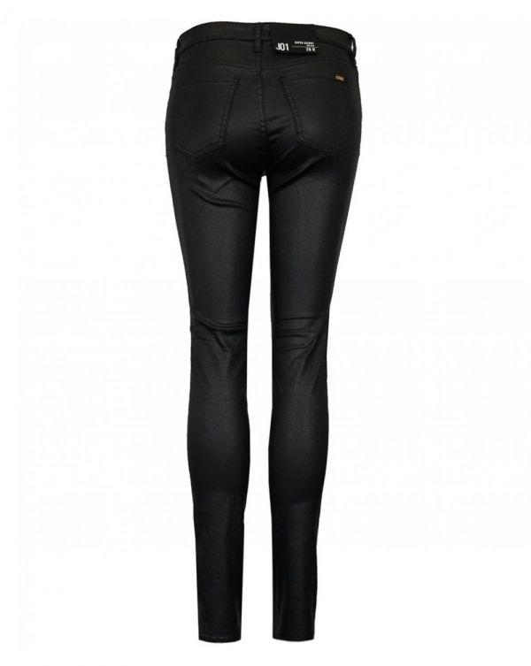 Mid Rise Coated Super Skinny Jeans