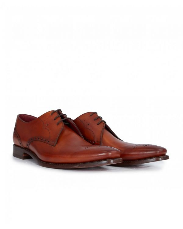 Detail Leather Derby Shoes