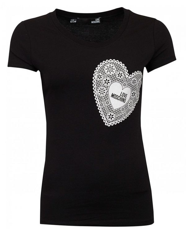 Lace Heart Fitted T-shirt
