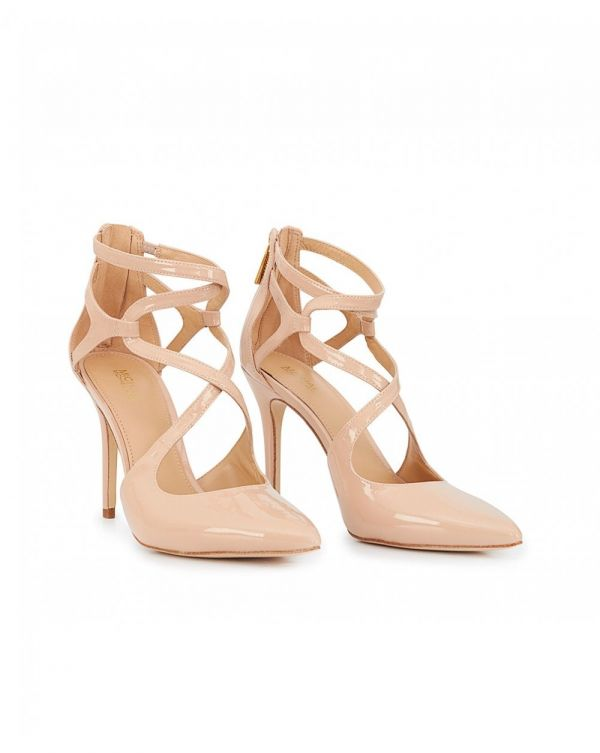Catia Patent Cut Out Pointed Shoes