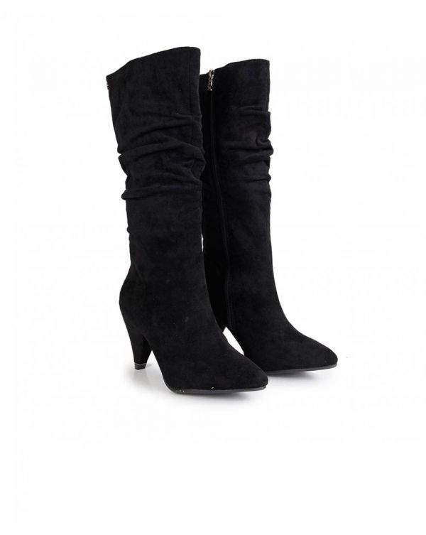 Suedette Slouchy Calf Boots