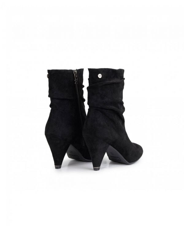 Suedette Slouchy Ankle Boots