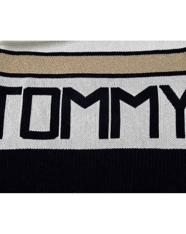 Icon Tamarah Striped Logo Knit