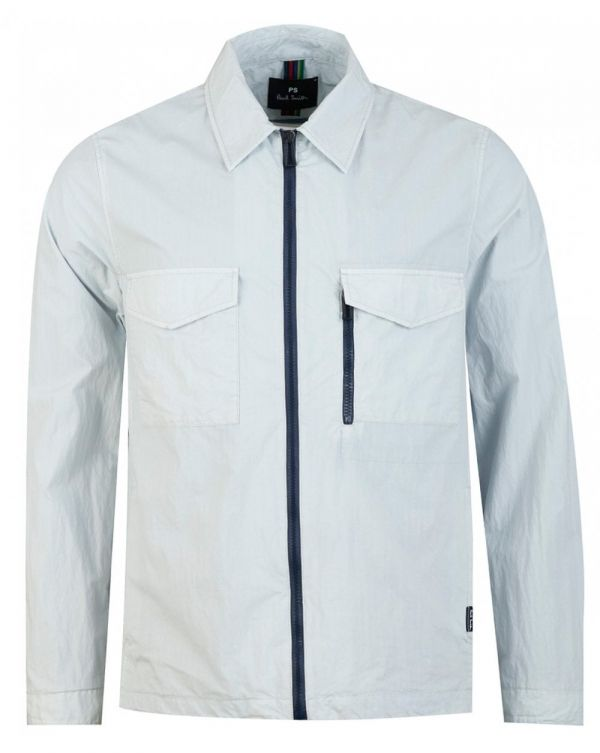 Zip Through Ripstop Overshirt Jacket