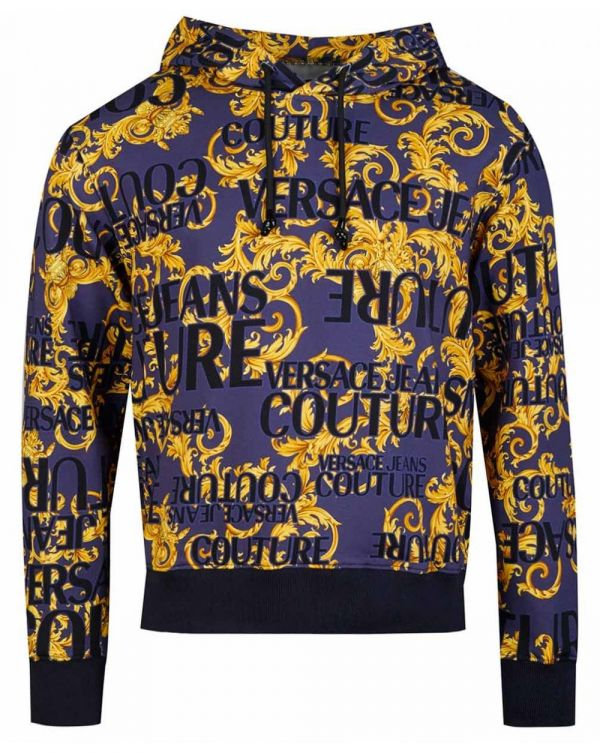 All Over Baroque Print Pullover Hoody