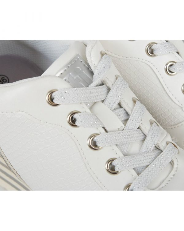 Lace Up Wedge Trainers