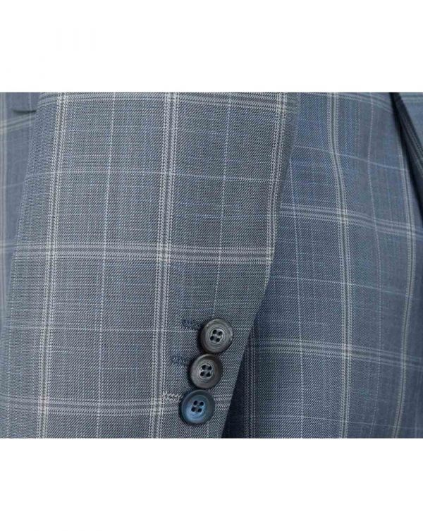 Slim Fit Large Checked Suit