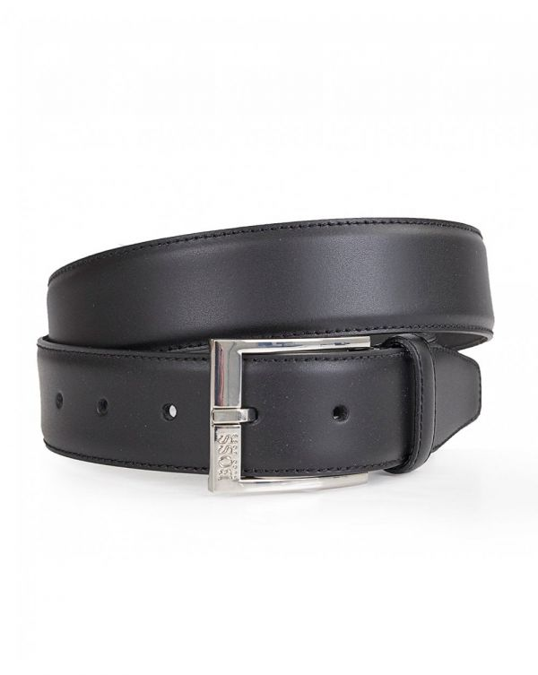 Ellotyo Leather Silver Buckle Belt