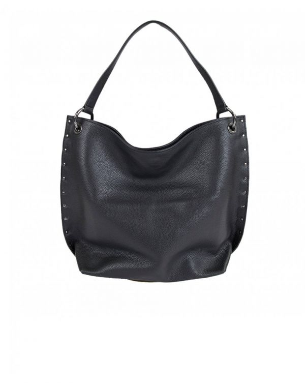 Bow Stud Hobo Bag