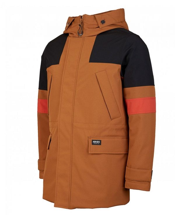 Contrast Hooded Parka