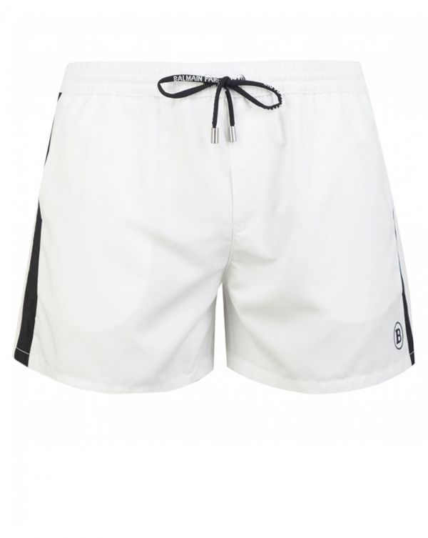 Logo Embroidered Swim Shorts