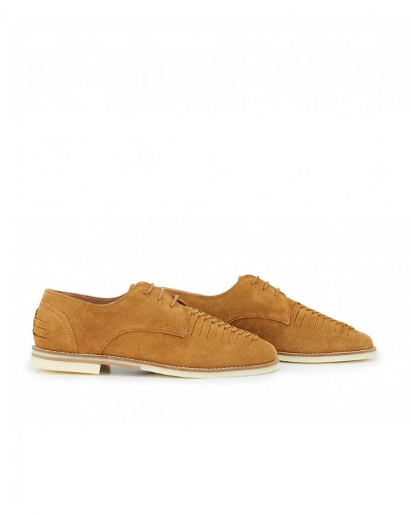 Chatra Suede Woven Shoes
