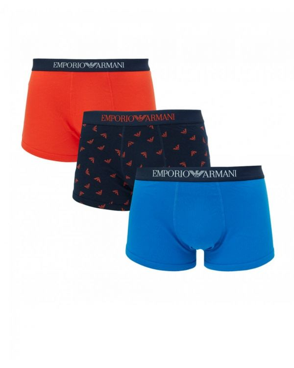 3 Pack Plain And All Over Trunks