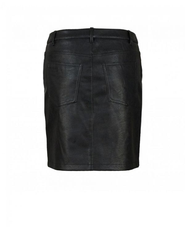 Banovely Faux Leather Skirt