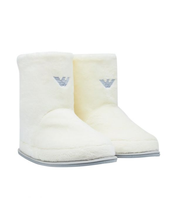 Fluffy Logo Booties
