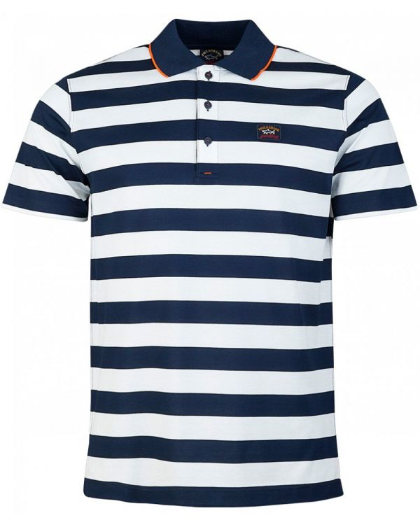Mercerized Tipped Striped Polo