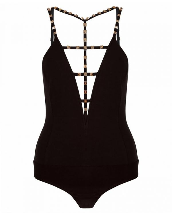 Studded Strap Body Suit