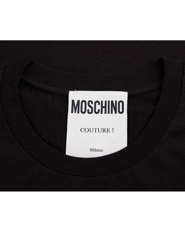 Moschino Couture Silver Logo T-shirt