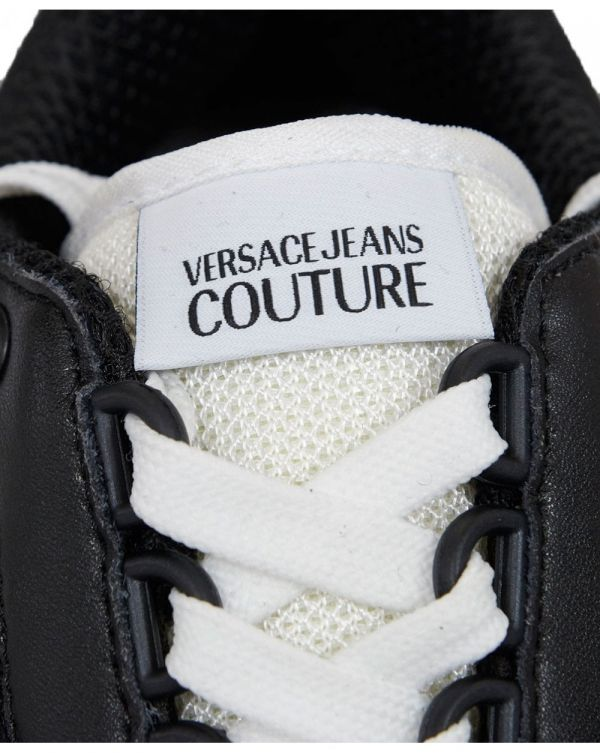 Mesh Leather Mix Logo Trainers