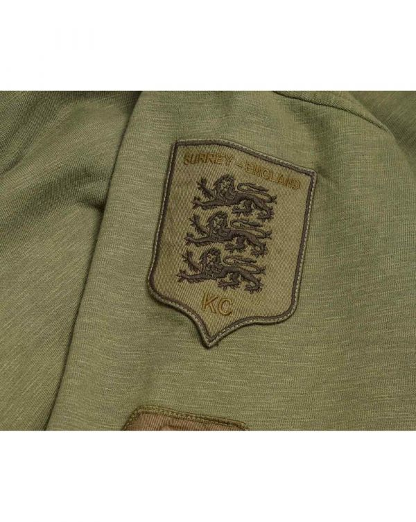 Benson Patch Pullover Hooded Top