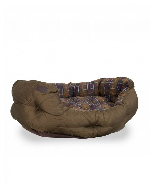 Quilted Tartan 35 Inch Dog Bed