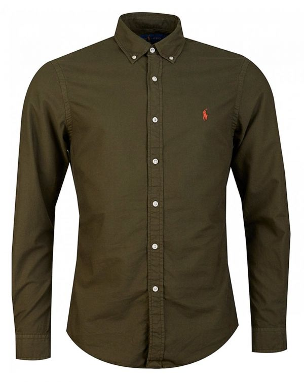Garment Dyed Slim Fit Oxford Shirt