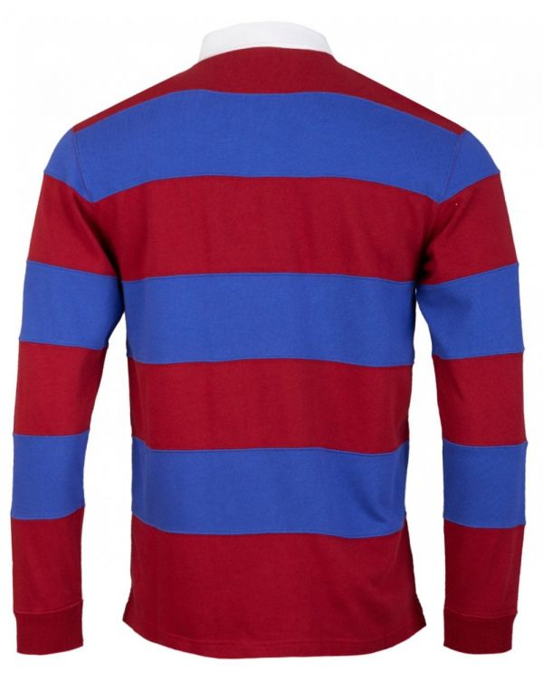 Striped Long Sleeved Rugby Polo Shirt