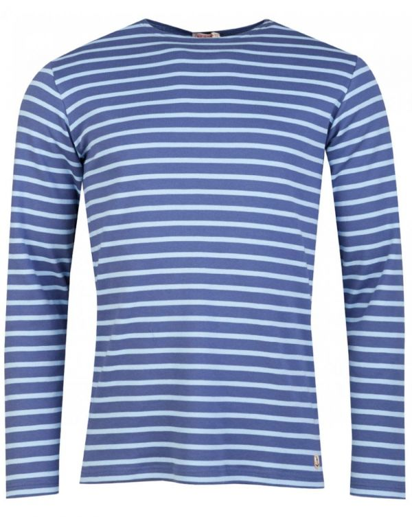 Long Sleeved Striped Crew T-shirt