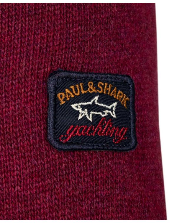 Paul And Shark Lambswool Crew Neck Logo Knit
