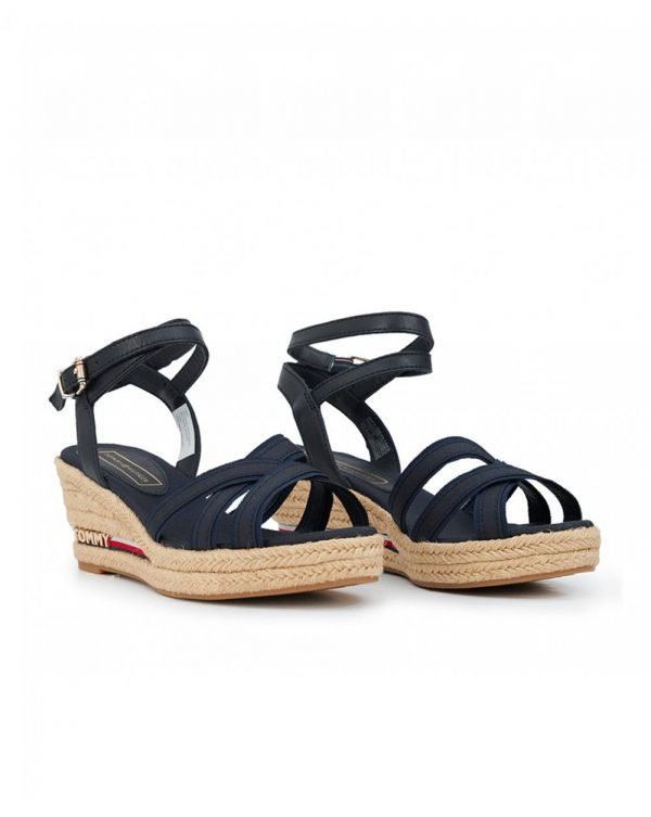 Iconic Elba Corp Ribbon Wedge Sandals