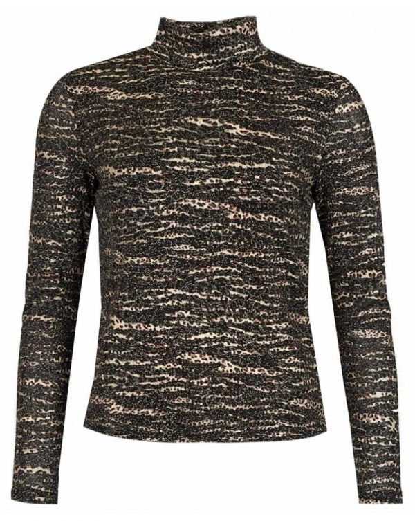 Lurex Roll Neck Knit