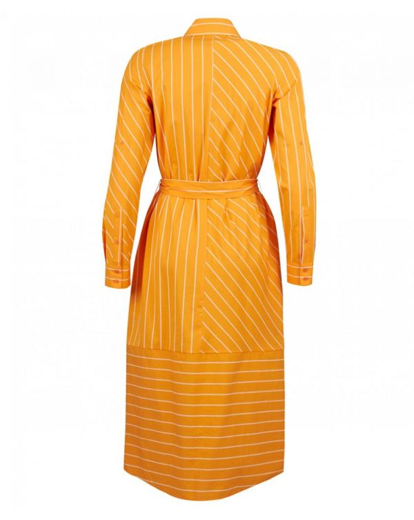 Elowen Striped Midi Shirt Dress