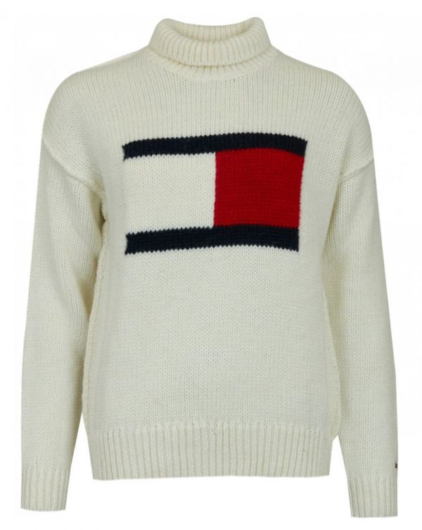 Tommy Flag High Neck Sweat