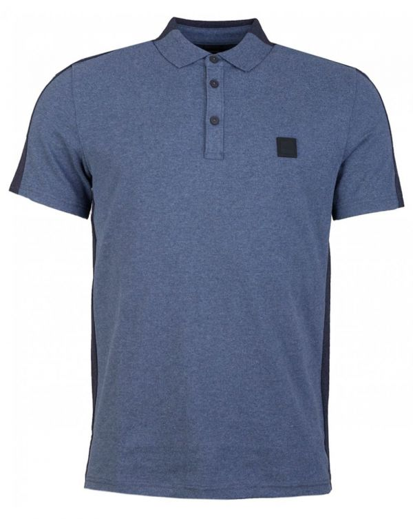 Pevided Contrast Panel Polo Shirt