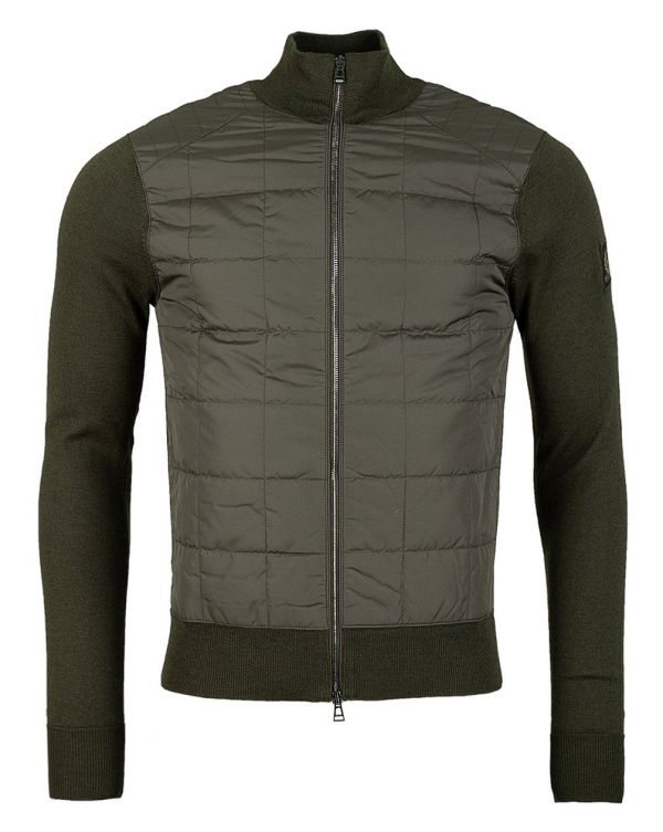 Kelby Zip Through Quilted Front Jumper