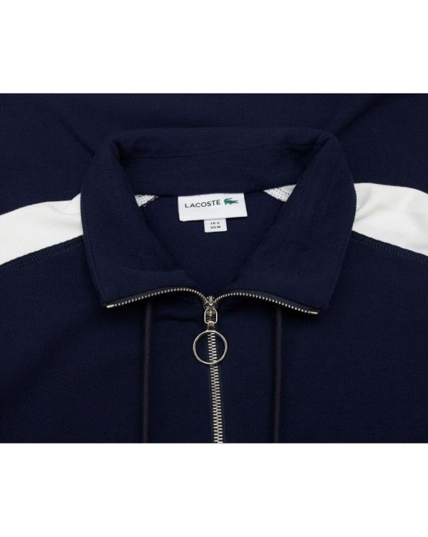 Half Zip Pique Colour Block Sweat