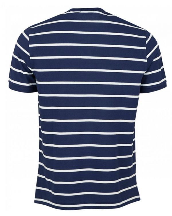Custom Slim Fit Striped Henley T-shirt