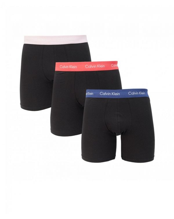 3 Pack Contrast Waistband Boxer Briefs