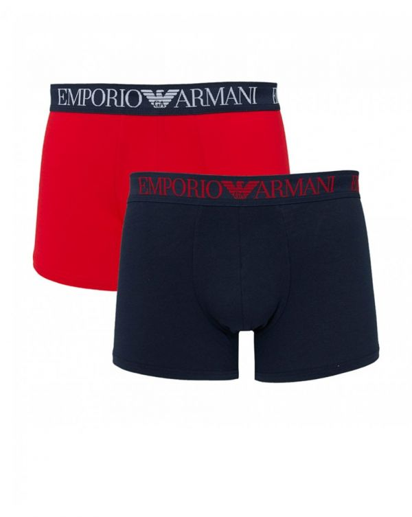 2 Pack Script Waistband Long Trunks