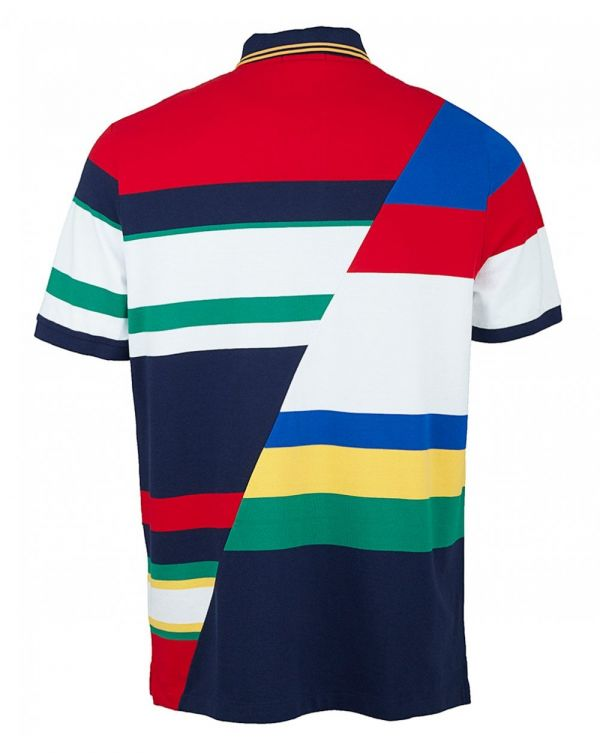 Classic Fit Cut And Sew Crest Polo Shirt