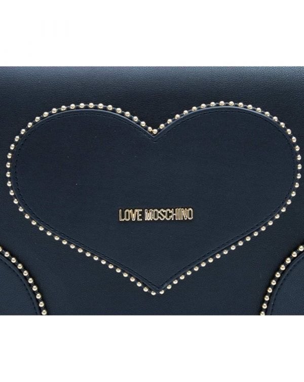 Studded Heart Chain Shoulder Bag