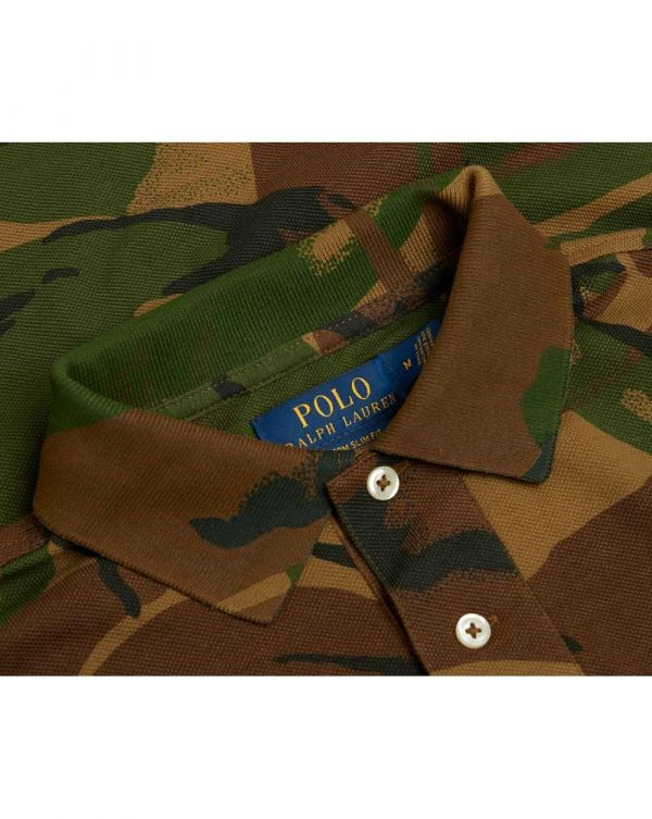 Custom Slim Fit Camo Polo Shirt