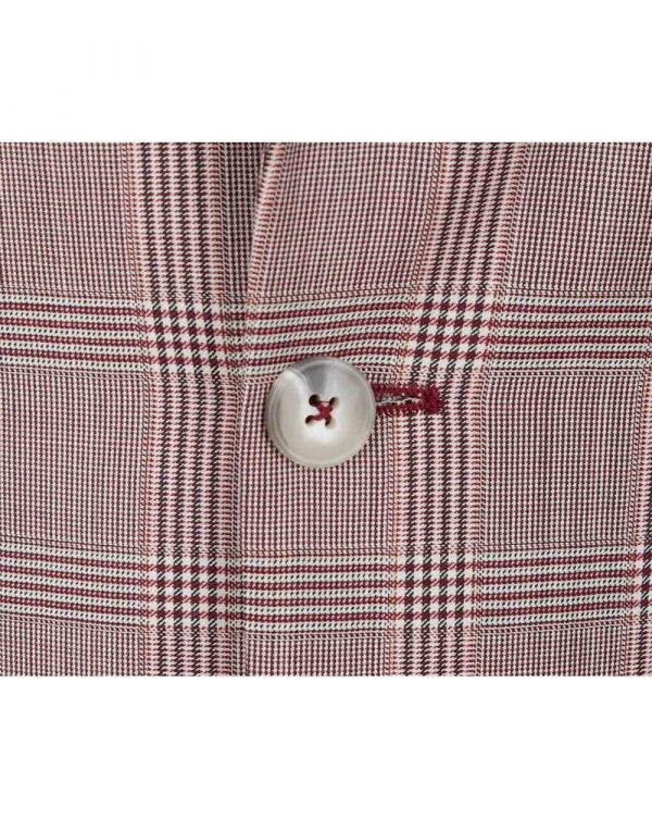 One Button Checked Jacket