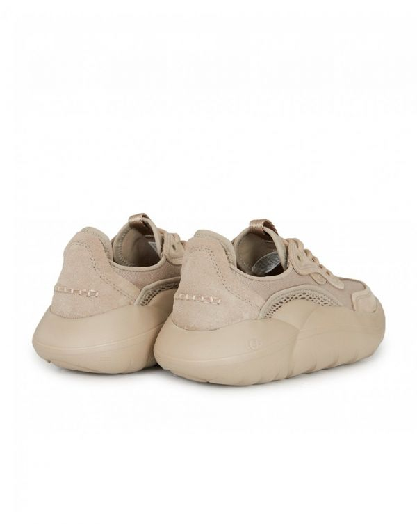 La Canvas/suede Chunky Trainers