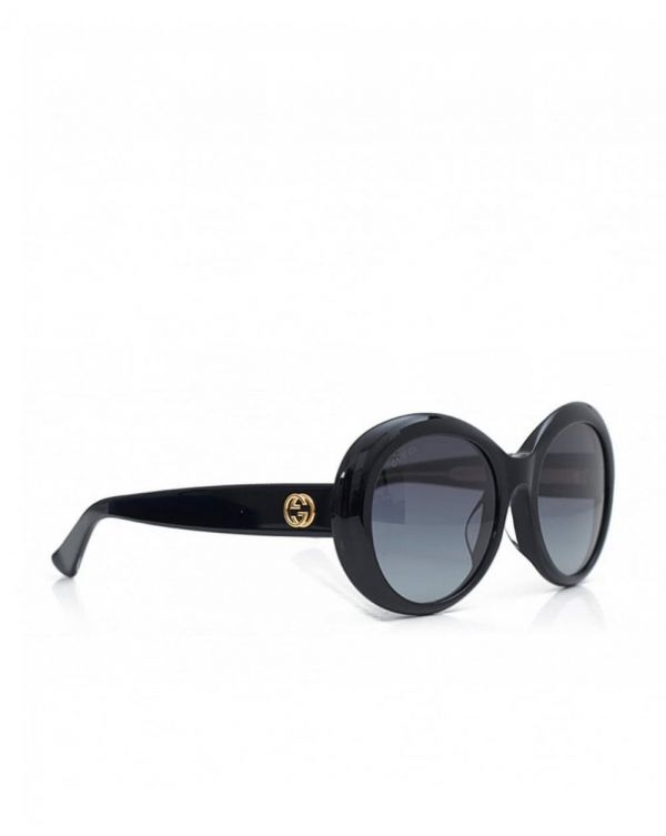 Round Logo Arm Sunglasses