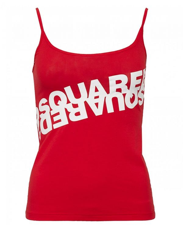 Mirrored Logo Vest Top