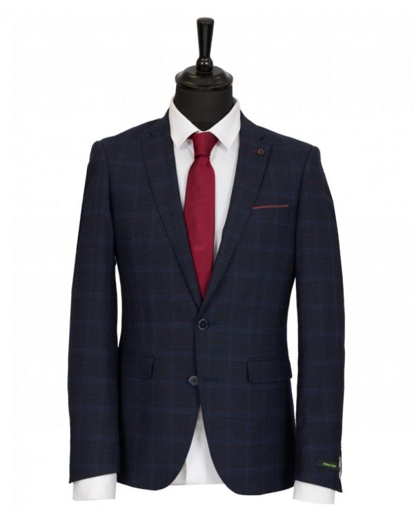 Extra Slim Fit Windowpane Checked Jacket